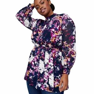 Lane Bryant x girl with curves floral blouse